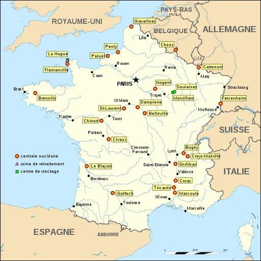 Kerncentrales frankrijk