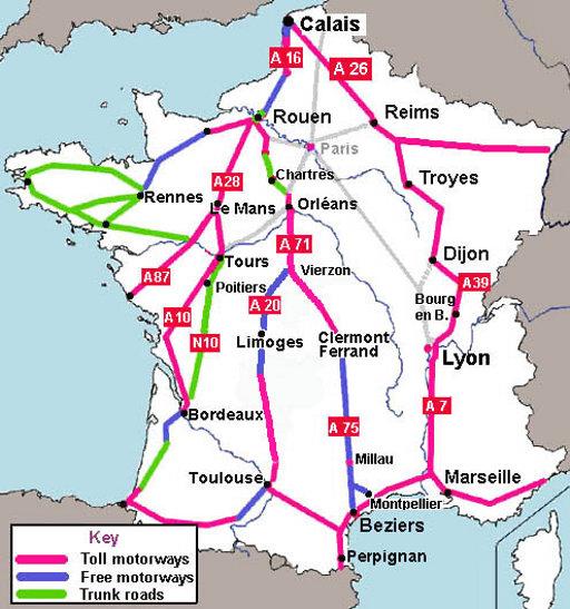 Tolwegen Frankrijk